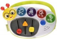 Mix up playtime with the musical mix & master fun of Little DJ. Exposing your baby to toys that play music can help foster music appreciation at an early age. Every push of a button and slide of a knob allows baby to make his own music tracks. Baby Musical Instruments, Baby Musical Toys, Einstein, Instrument Sounds, Activity Cube, Toys For 1 Year Old, Amazon Baby, Developmental Toys, Baby Store