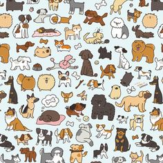 Doggy Doodle fabric by kirakiradoodles on Spoonflower - custom fabric