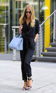 Rosie Huntington-Whiteley does blue-on-blue (and rocks it)