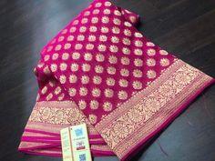 Exclusive Banarasi K Banaras Sarees, Silk Saree Kanchipuram, Georgette Sarees, Khadi Saree, Trendy Sarees, Fancy Sarees, Bridal Silk Saree, Saree Wedding, Designer Sarees Wedding