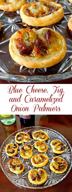 With just four simple ingredients you can have a fancy appetizer for your guests Blue Cheese Fig and Caramelized Onion Palmiers will impress evenly the inlaws this holida. Fancy Appetizers, Holiday Appetizers, Appetizer Recipes, Vegetarian Appetizers, Fig Appetizer, Vegetarian Tapas, Tailgate Appetizers, Fig Recipes, Cooking Recipes