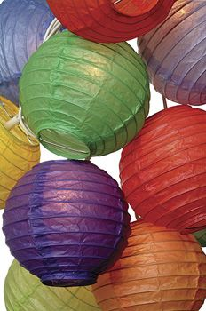 Multicolor Paper Lantern String Lights (flat-packed)