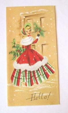 Vintage  Christmas Card. When it comes to Christmas, I love vintage decorations, cards, and ornaments!