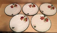 Poole Pottery New England saucer Leaf Pattern   | eBay