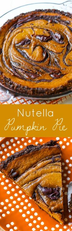 Add a hazelnut twist to a traditional pumpkin pie recipe. Swirl with Nutella for another reason to love the flavor of pumpkin.