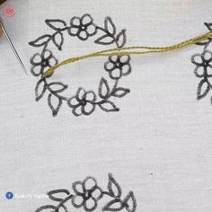 hand embroidery all over design for dress - Kreuzstich Hand Embroidery Art, Hand Embroidery Videos, Floral Embroidery Patterns, Embroidery Stitches Tutorial, Creative Embroidery, Learn Embroidery, Silk Ribbon Embroidery, Vintage Embroidery, Diy Embroidery Shoes