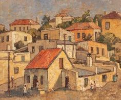 District Six - Gregoire Boonzaier South Africa Art, Drawing Grid, Landscape Photography, Art Photography, Art Through The Ages, South African Artists, Amazing Paintings, Post Impressionism, Naive Art