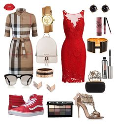 Day and Night by shivankari on Polyvore featuring polyvore, mode, style, ML Monique Lhuillier, Burberry, Casadei, Vans, Alexander McQueen, MICHAEL Michael Kors, Cartier, Hermès, Irene Neuwirth, Tory Burch, FOSSIL, Christian Dior, Bobbi Brown Cosmetics, Benefit, Smashbox, Kylie Cosmetics, fashion and clothing