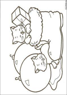 266 Christmas printable coloring pages for kids. Find on coloring-book thousands of coloring pages. Cat Coloring Page, Coloring Book Pages, Printable Coloring Pages, Coloring Pages For Kids, Christmas Images To Color, Christmas Colors, Christmas Drawing, Christmas Cats, Xmas