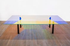 ack: despise glass tables but this is pretty. Table Pow, Robert Stadler, Carpenters Workshop Gallery