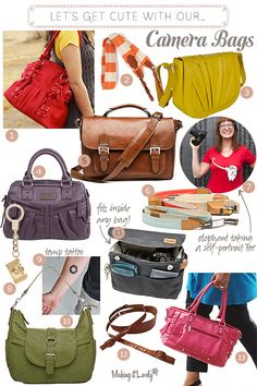 Carry all your purse essentials and your camera! Oh and look cute too! Carry all your purse essentials and your camera! Oh and look cute too! Cute Camera Bag, Stylish Camera Bags, Camera Purse, Photography Bags, Photography Accessories, Photography Camera, Foto Fun, Purse Essentials, Style Japonais