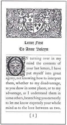 Letter from Henry VIII to Anne.