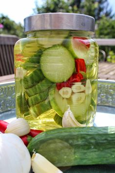Chutney, Pickles, Cucumber, Chili, Food And Drink, Recipes, Marmalade, Corning Glass, Chili Powder