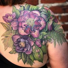 finished this poison flower shoulder piece today. Thanks again, Caitlin! Cover Up Tattoos, Love Tattoos, Beautiful Tattoos, Body Art Tattoos, Tattoos For Women, Floral Tattoos, Wrist Tattoos, Chest Tattoo, Back Tattoo