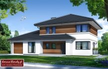 Small, detached house design, that makes a mark with its simple and modern architecture. Double Storey House Plans, Day For Night, Detached House, Home Fashion, Custom Homes, Modern Architecture, Laundry Room, House Design, House Styles