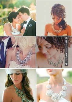 Love this! - statement necklaces for brides | CHECK OUT MORE IDEAS AT WEDDINGPINS.NET | #weddings #weddingrings #weddingbling #weddingjewelery #events #forweddings #iloveweddings #romance #rings #planners #jewelery #ceremonyphotos #weddingphotos #weddingpictures