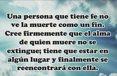 #Fe #Muerte #Reencuentro