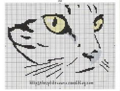 grille broderie chat 15