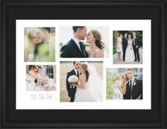 Gallery Collage of Six Framed Print, Black, Classic, White, Black, Single piece, 24 x 36 inches