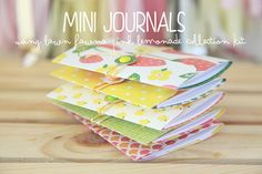the Lawn Fawn blog: mini journals with Nicole