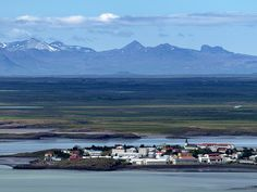 Yet another view of the town Borgarnes (pop. 1800+) in southwestern Iceland with the rural districts of Mýrar and Hnappadalur in the background.