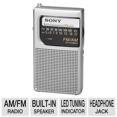 Special Offers - Sony All in One Compact Design Pocket Size Portable AM/FM Radio with Built-in Speaker Earphone Jack LED Tuning Indicator & Carry Strap - In stock & Free Shipping. You can save more money! Check It (April 09 2016 at 11:19AM) >> http://wbluetoothspeaker.net/sony-all-in-one-compact-design-pocket-size-portable-amfm-radio-with-built-in-speaker-earphone-jack-led-tuning-indicator-carry-strap/