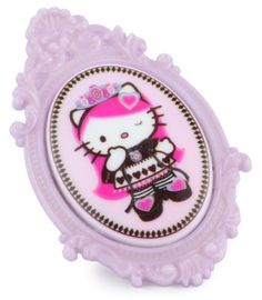 "Tarina Tarantino Hello Kitty ""Pink Head"" Portrait Adjustable Queen Ring TARINA TARANTINO. $37.50. Fit sizes 4 through 8. Handmade in the United States. Portrait Lucite cameo on an adjustable mod style ring. Packaged in a signature organza bag with limited edition carding. Made in United States"