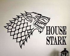 House of Stark Removable Wall Sticker //Price: $37.99 & FREE Shipping //     #WinterIsComing