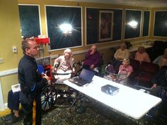Lt. Ron Ritter gives out information on phone scams.