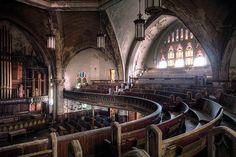 La iglesia presbiteriana Woodward de Detroit