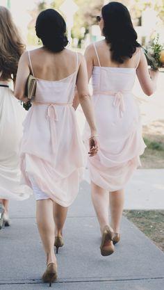 As featured in BRIDES.COM Blush chiffon bridesmaids dresses | by Elika In Love. www.elikainlove.com Bridesmaid Dresses, Bridesmaids, Wedding Dresses, Chloe Dress, Wedding Of The Year, Nautical Wedding, Big Day, Most Beautiful, Chiffon