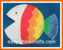 Fish Picture from a paper plate, pretty easy to do. Bible School Crafts, Daycare Crafts, Sunday School Crafts, Classroom Crafts, Bible Crafts, Preschool Crafts, Preschool Ideas, Ocean Activities, Spring Activities