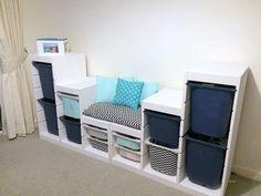 IKEA TROFAST children's storage and seat to match colour scheme