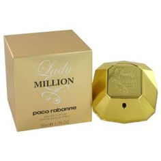Lady Million by Paco Rabanne, this is a women's fragrance in 1.07oz size Vibrant and sensual, Lady Million is like a voluptuous nectar of flowers. Powerfully seductive, the sparkle of bitter orange and a hint of raspberry reveals the fragrance's first breath. Smooth and bright, a burst of neroli follows. Then the lethal eapon:heady orange blossom slips out of its heath. Its narcotic sweetness then reveals itself, bewitching and demanding all attention $54.99 #XmasGift #Great4Deals