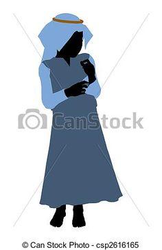 Nativity Illustration Silhouette