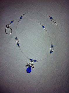 Blue Angel Illusion Necklace by 6NorthDesign on Etsy, $20.00