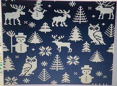 ideas crochet christmas stocking pattern mini for 2019 Crochet Shawl Diagram, Crochet Cat Pattern, Crochet Chart, Crochet Christmas Stocking Pattern, Cross Stitch Christmas Ornaments, Christmas Knitting, Knitting Charts, Knitting Patterns, Graph Paper Art