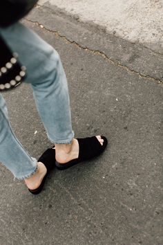 the perfect pair of black slides.