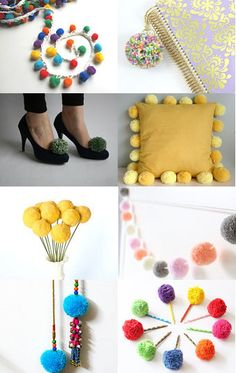 A bad case of pom pom fever by Brighton Babe on Etsy--Pinned with TreasuryPin.com