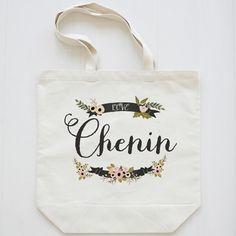 Sophia Collection Custom Name Premium Tote