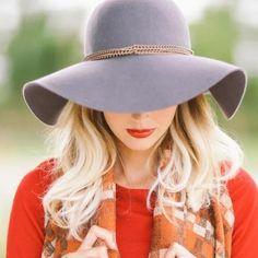Accessories - Felt floppy hat wide brim gray summer grey neutral on Poshmark