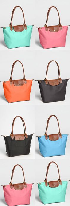 Colorful totes. I'll take one in each color, please! http://rstyle.me/n/ffygdn2bn