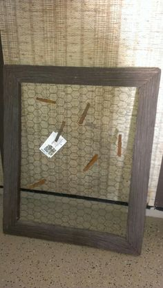 Tobacco lathe and chicken wire picture frame