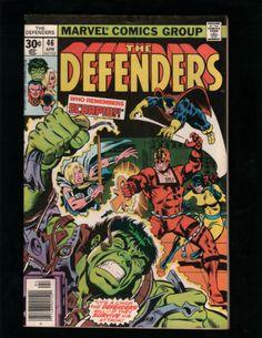 THE DEFENDERS #46 HULK, HELLCAT, DOCTOR STRANGE, MARVEL COMICS