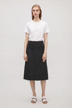 COS image 1 of Skirt with overlapping vents in Navy