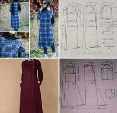 Best 11 Shabllona per te mbulume – Page 376261743865379898 – SkillOfKing. Sewing Pants, Sewing Clothes, Abaya Fashion, Fashion Outfits, Abaya Pattern, Mode Abaya, Muslim Women Fashion, Dress Making Patterns, Modest Dresses