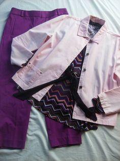 Ladies Size 2 outfit complete! Ann Taylor Fushia Pants/Alfani top/Pink Blazer @eBay #SALE $35