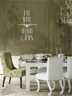 Eat Well Travel Often Quote Vinyl Wall Decal on Etsy, $20.00