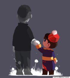 '복면가왕을 본 dc 국카스텐 갤러리 유저의 그림 한 장(그림)