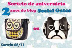 Social Gatas: Sorteio Aniversário de 2 anos do blog